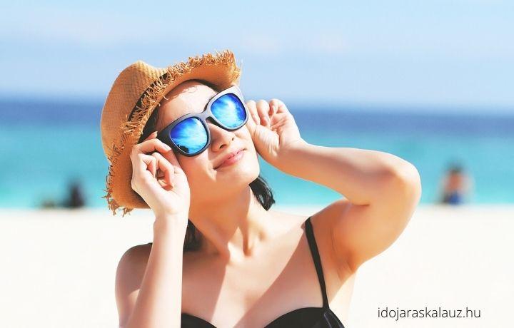 napszemüveg viselése